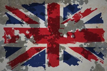 kingdom: United Kingdom, grunge flag