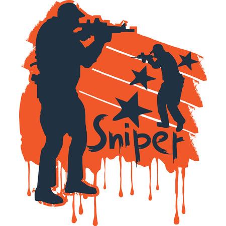 dangerous work: Shooting battles, T-Shirt Designs, illustration