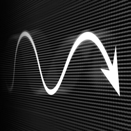 led screen: Recession arrow on led screen