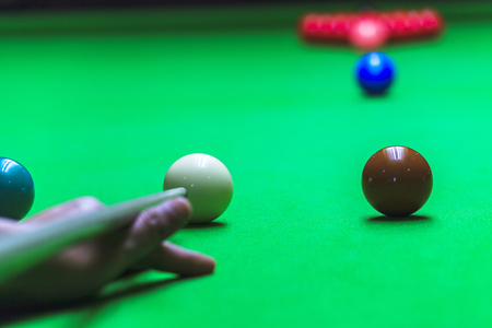 snooker table: Snooker ball on snooker table