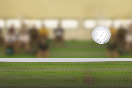 indoor background: Volleyball court with Volleyball Ball
