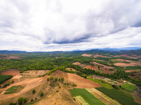 agricultural area: Aerial view of agricultural area in countryside thailand