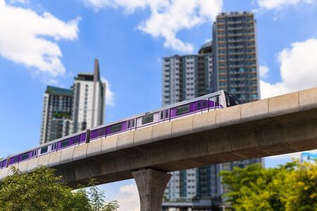 Skytrain Purple Line, Bangkok Thailand Stock Photo