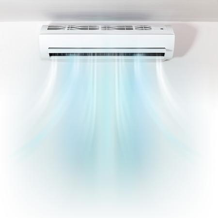 Air conditionné sur le mur de fond Banque d'images - 61666036