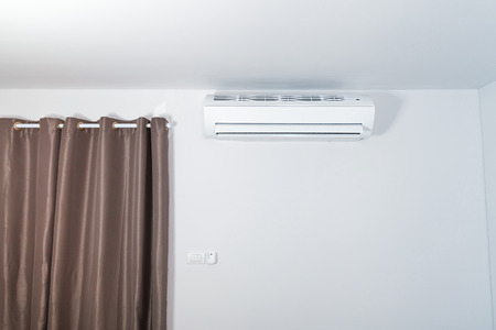 humidifier: Air conditioner on wall background