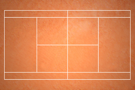 Clay Court de tennis Banque d'images - 61949130
