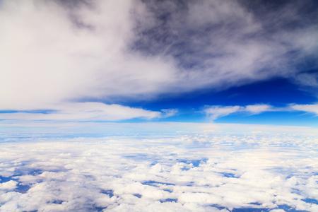 Beautiful Sky view through plane window