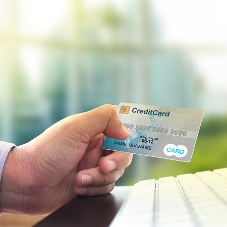 Businessman shopping and online payment with credit card