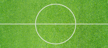 Top view photo of Soccer field texture background Imagens
