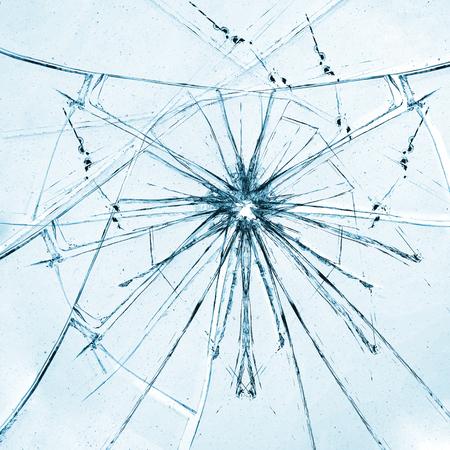 Broken mirror background Stock Photo