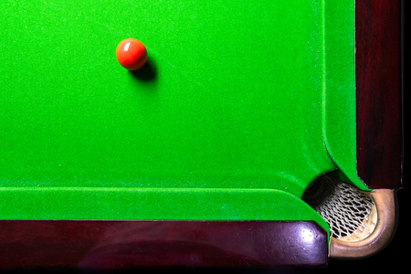 Snooker table top view with snooker balls on green 版權商用圖片
