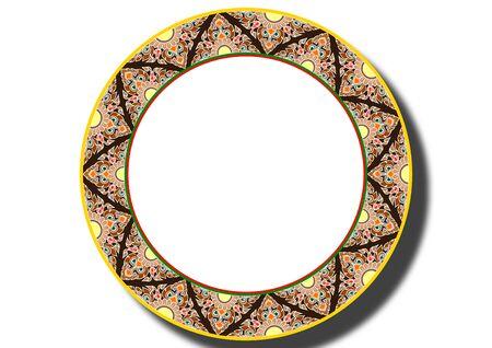 plate: border plate thai style