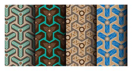modern thai pattern Çizim