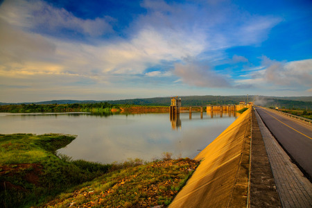 catchment: concreat dam catchment Stock Photo
