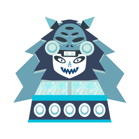 Illustration of fantastic girl. Polygon style. Series of icy creatures. Can be used in printing: card, t-shirt, phone case, mug, bag and so on.