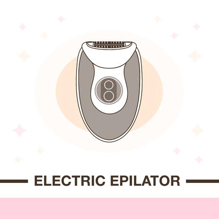Elektrische Haarabbau-Bildillustration