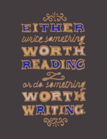 Golden lettering illustration of Benjamin Franklin's quote