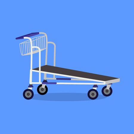 Vector cartoon illustration of empty hand cart. Prepared for animation