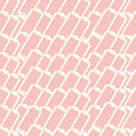 Seamless pattern with wax stripe applicator for package or web banner. Delicate colors and outline style Ilustração