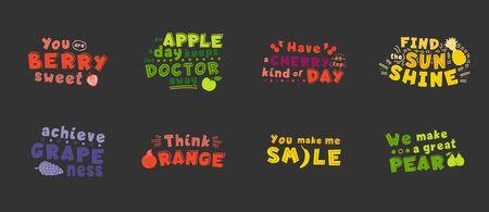 Monocolor optimistic  inspirational quotes, phrase stylized typography. You berry sweet, think orange illustration. Optimistic t shirt print, inspiring greeting card 일러스트