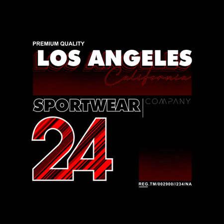 los angeles california sportwear vintage fashion tees design Vector Illustration