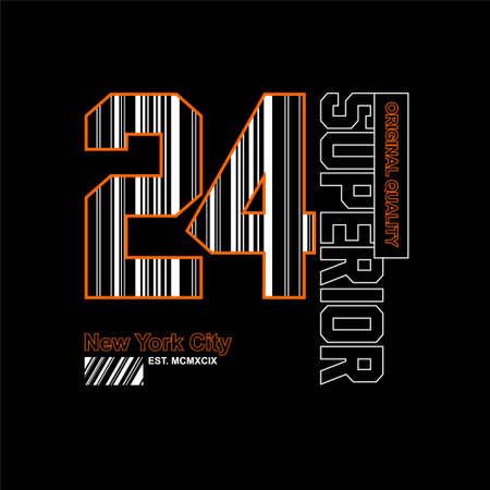 24 superior new york city vintage fashion t-shirt design Vettoriali