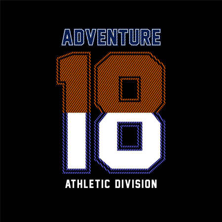 Adventure athletic division vintage vector Ilustracja
