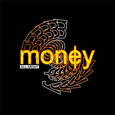 all about money vintage streetwear vector Ilustracja