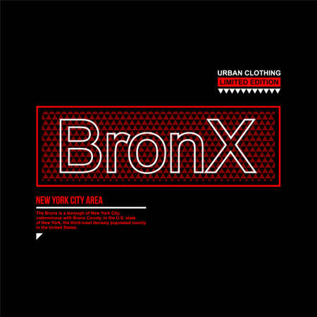 bronx new york city urban clothing limited edition Illustration