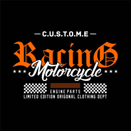 custome racing motorcycle limited edition original clothing vintage
