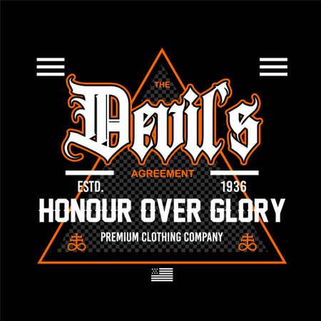 deils honor of the glory streetwear vintage