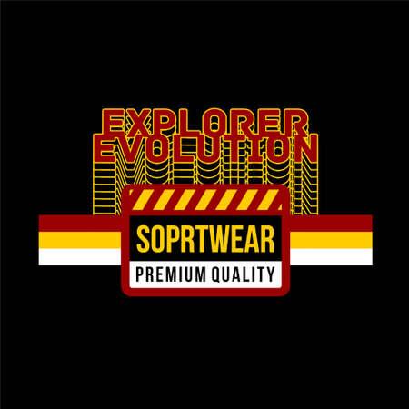 explorer evolution sportwear premium quality Vettoriali