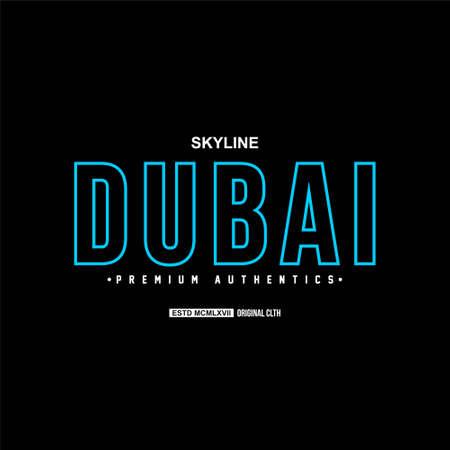 dubai skyline premium authentic vintage