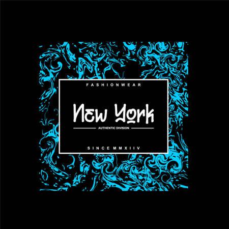 fashionwear new york authentic division vintage Vettoriali