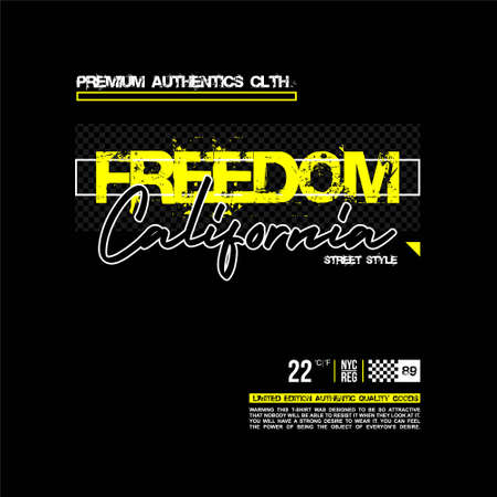 freedom california street style premium authentic clth vintage