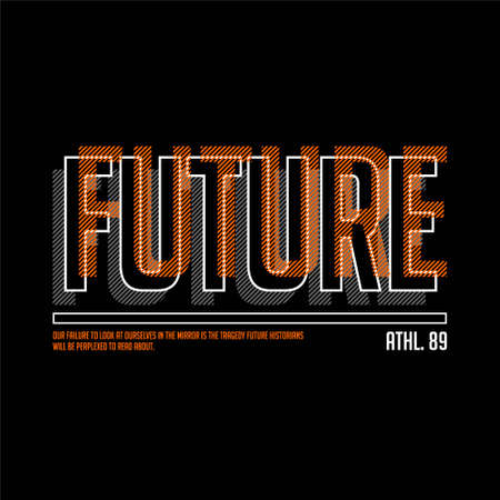 future athletic 89 typography vintage fashion Vettoriali