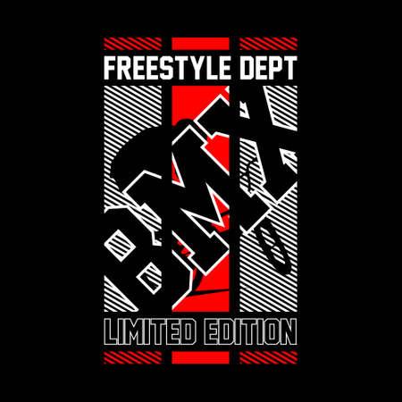 freestyle dept bmx limited edition vintage tshirt