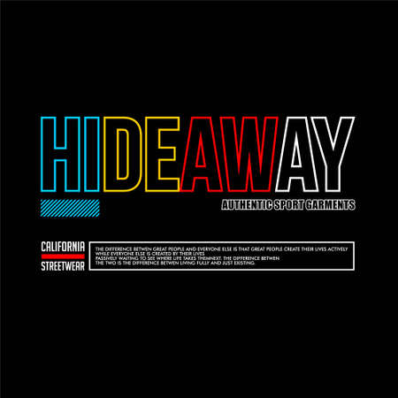 hideaway authentic sport garment california streetwear