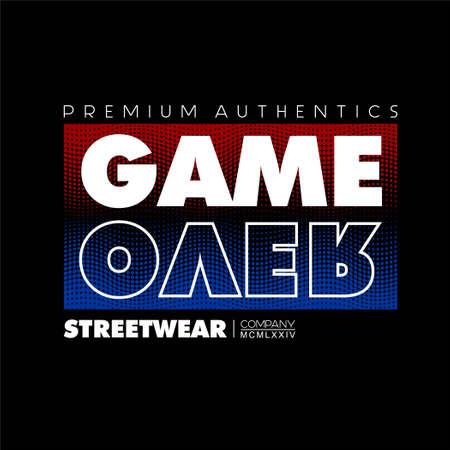 game over premium authentic vintage fashion t-shirt design Vettoriali