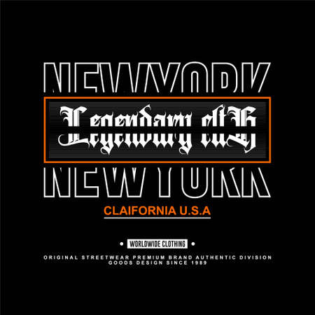 legendary clth california new york city usa streetwear vintage Vettoriali