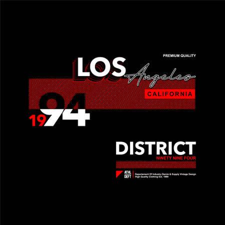 los angeles california district vintage fashion t-shirt design Ilustrace