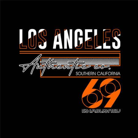 los angeles authentic co vintage fashion t-shirt design