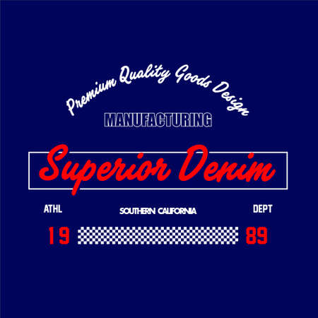 manufacturing superior denim southern california vintage Vettoriali