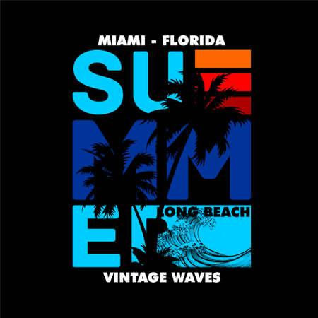 miami florida summer beach vintage waves