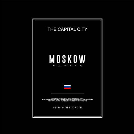 moskow the capital city russia simple vintage design