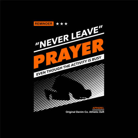 never leave prayer vintage fashion tees design