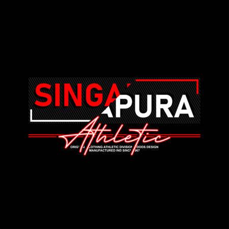 singapura athletic division typhography vintage fashion