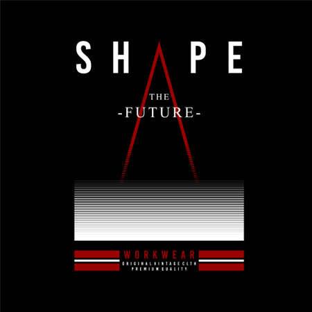 shape the future workwear vintage Vettoriali