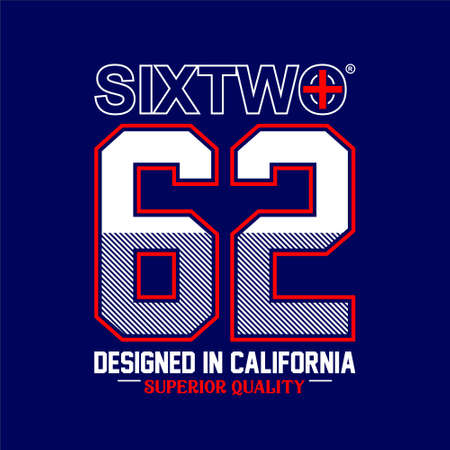 sixtwo 62 superior quality designed in california Ilustracja