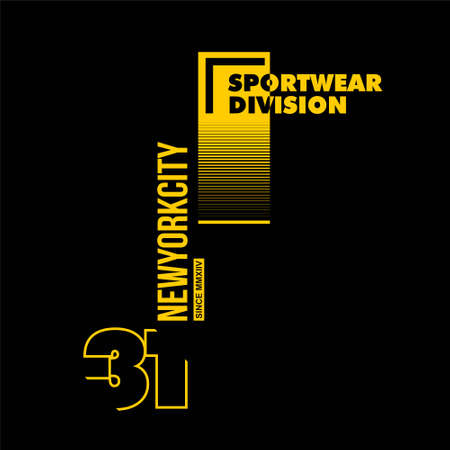 sportwear division new york city vintage vector